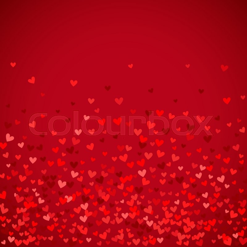 romantic red heart background vector illustration for