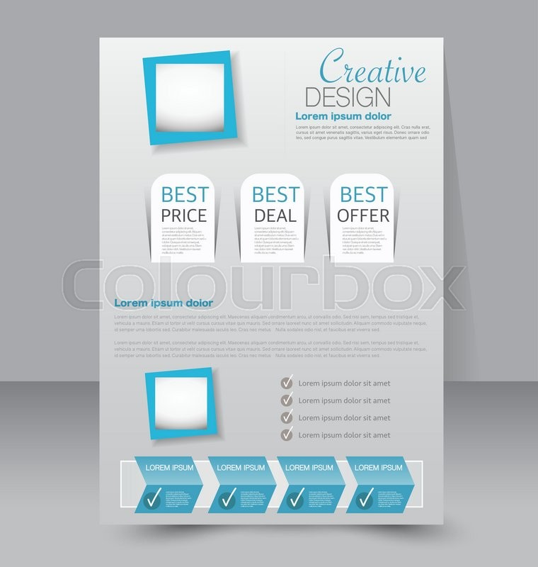 Flyer Template Business Brochure Editable A Poster For Design - A4 brochure template