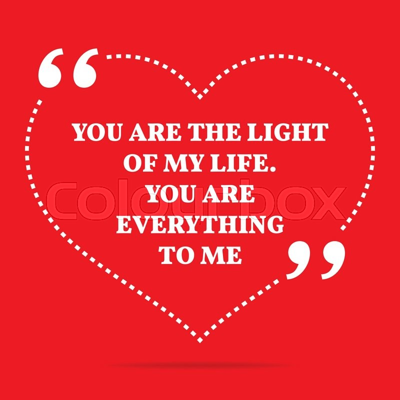 Inspirational Love Quote You Are The Stock Vector Colourbox