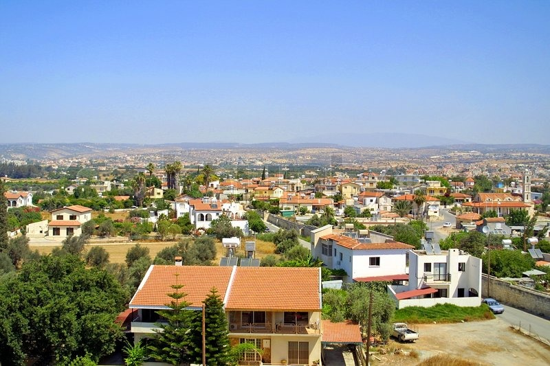 View To The Cyprus City From Kolossi Stock Photo