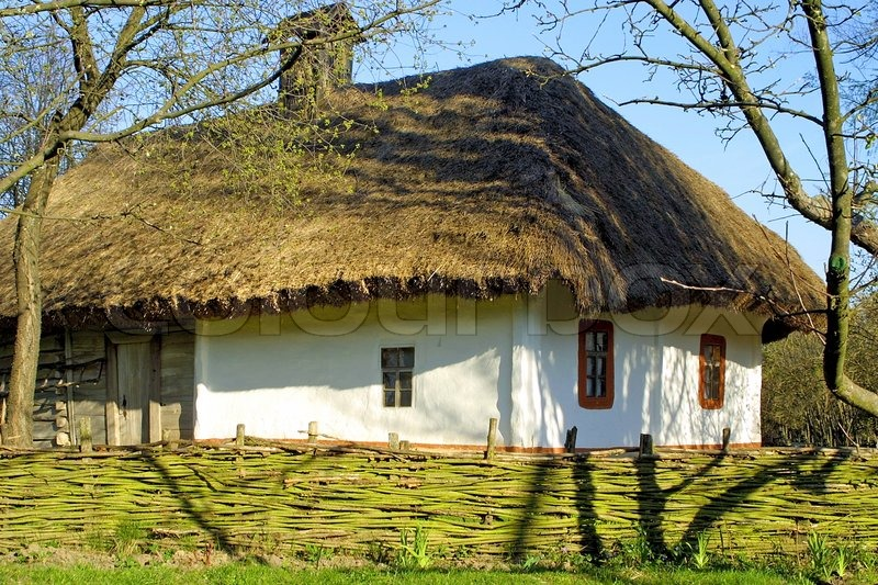 Stock Image Of U0027Typical Thatched Roof House In Ukraineu0027