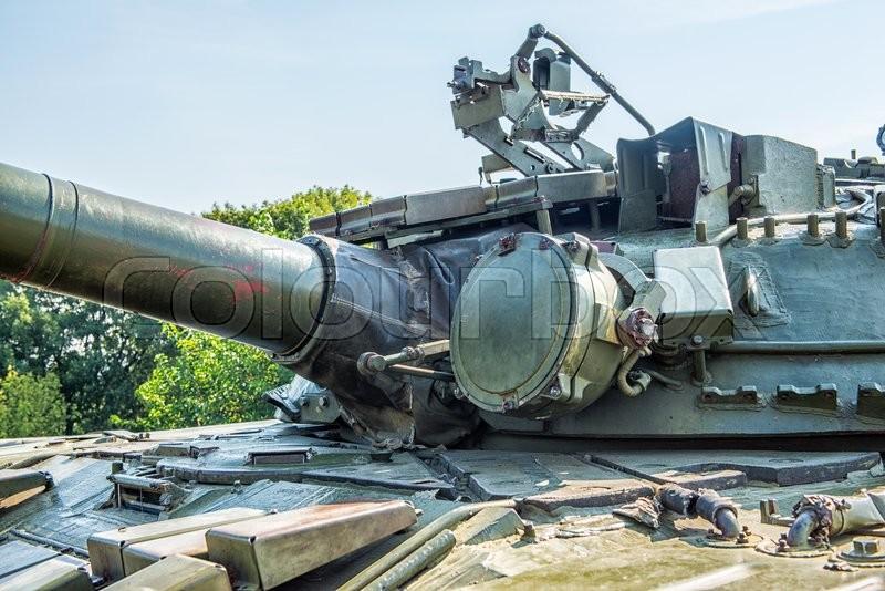 The main tank t 64 of ukrainian army. stock photo colourbox