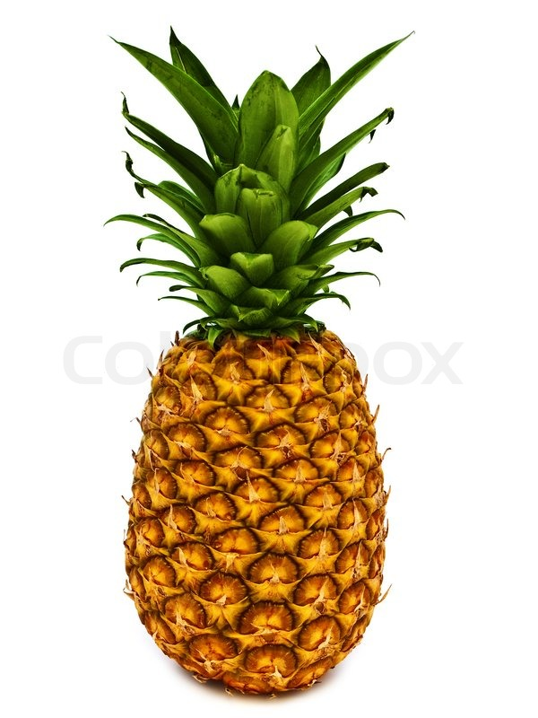 Ripe and tasty pineapple over the white background | Stock Photo ...: colourbox.com/image/ripe-and-tasty-pineapple-over-the-white...