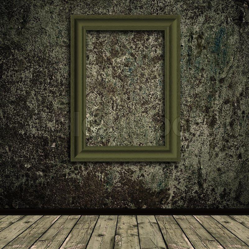 alte bilderrahmen ber die grunge wand hintergrund stockfoto colourbox. Black Bedroom Furniture Sets. Home Design Ideas