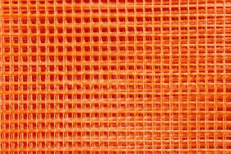 Orange Plastic Construction Mesh In Stock Image