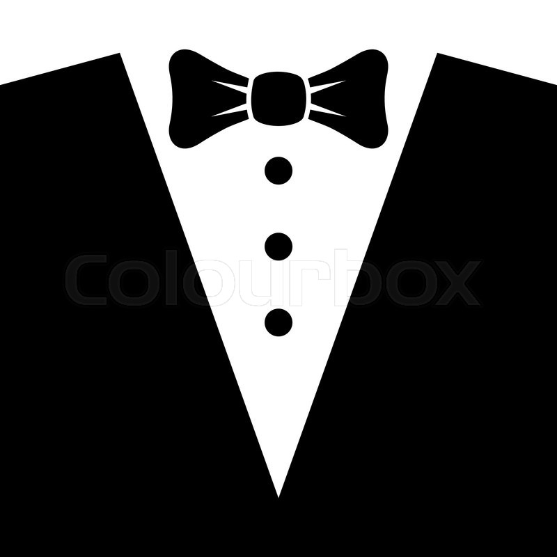 Black Tuxedo With Bow Tie Vector Stock Vector Colourbox