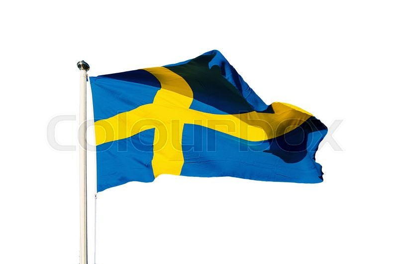 Stock image of 'Flag of Sweden isolated on the white background, national patriotic symbol'