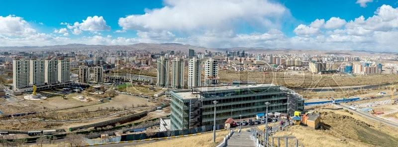 Stock image of 'Ulan-Bator, Mongolia - May 2015: View of Ulan Bator from mountain Zaisan'