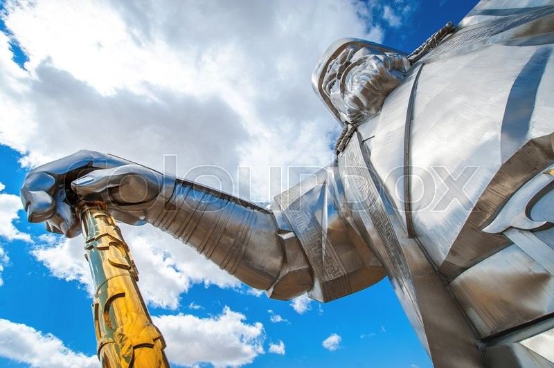 Stock image of 'Ulan-Bator,Mongolia - May 17, 2015: The world's largest statue of Chinghis Khan'