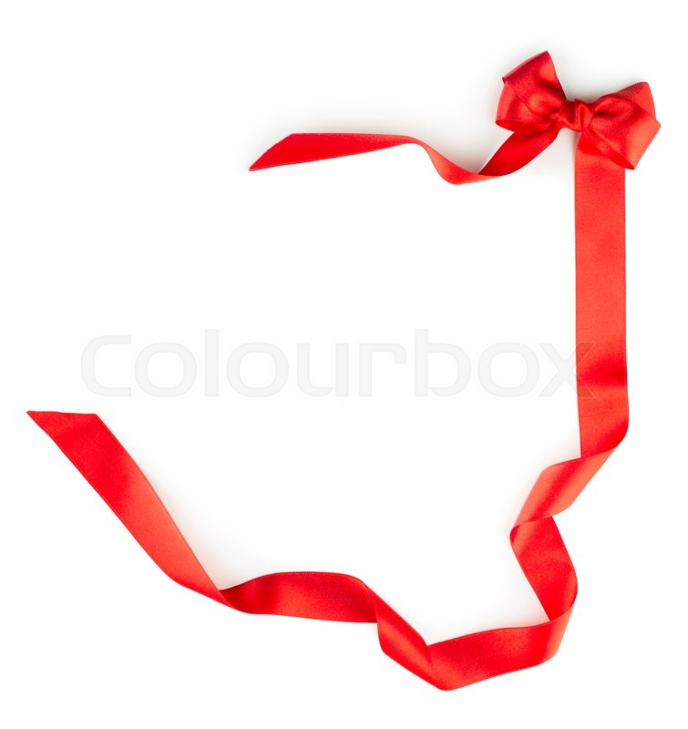 Stock image of 'Red ribbon isolated over white background'