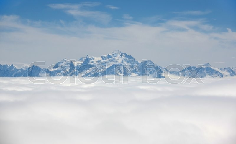 Stock image of 'Top view of Alpes Mountains, Switzerland'