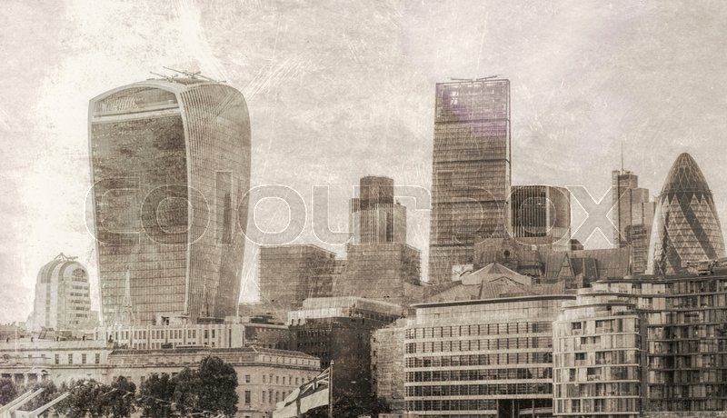 Stock image of 'Vintage view of London City.'
