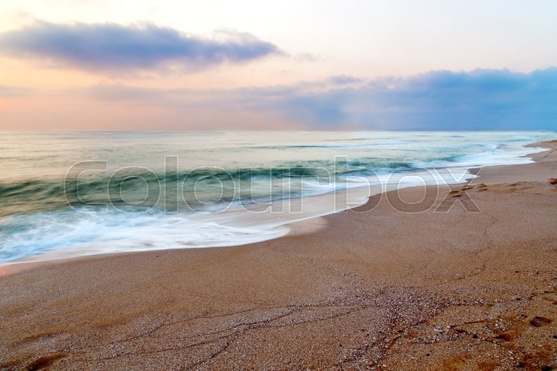 Stock image of 'sky sunset beach sea nature landscape background'