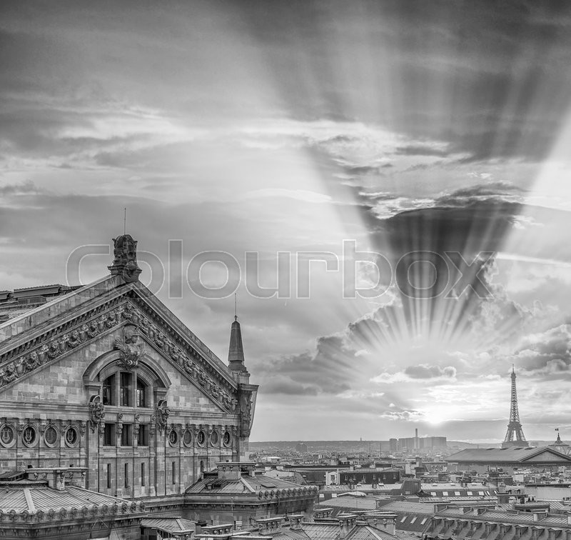 Stock image of 'Black and white view of Paris - France.'
