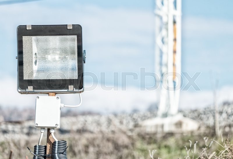 Stock image of 'Light over construction site. Industrial environment.'