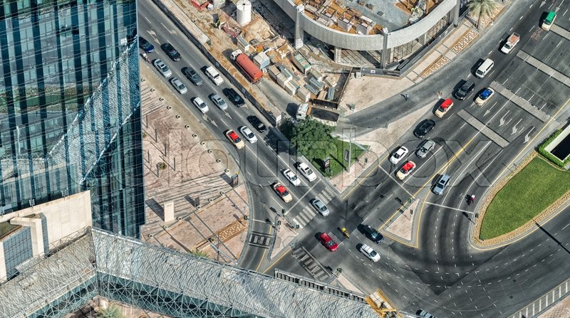 Stock image of 'Dubai traffic, UAE.'