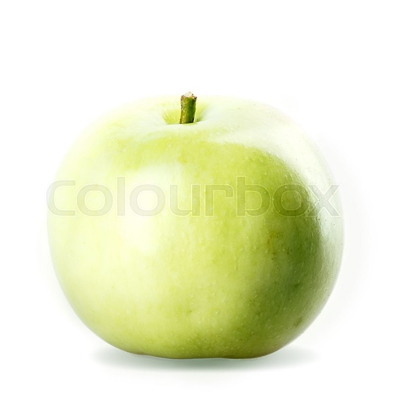 Stock image of 'one apple green Isolated on white background'