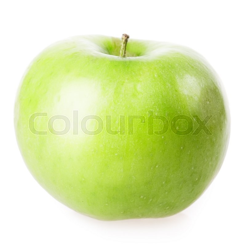 Stock image of 'green apple Isolated on white background'