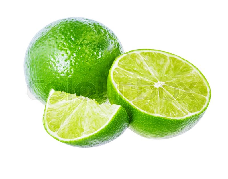 Stock image of 'lime Isolated on white background Clipping Path'