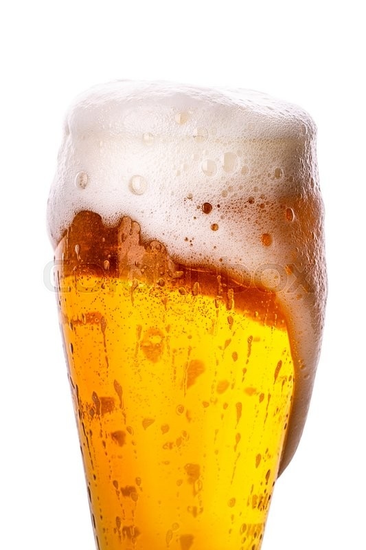 Stock image of 'glass of beer Isolated on white background Clipping Path'