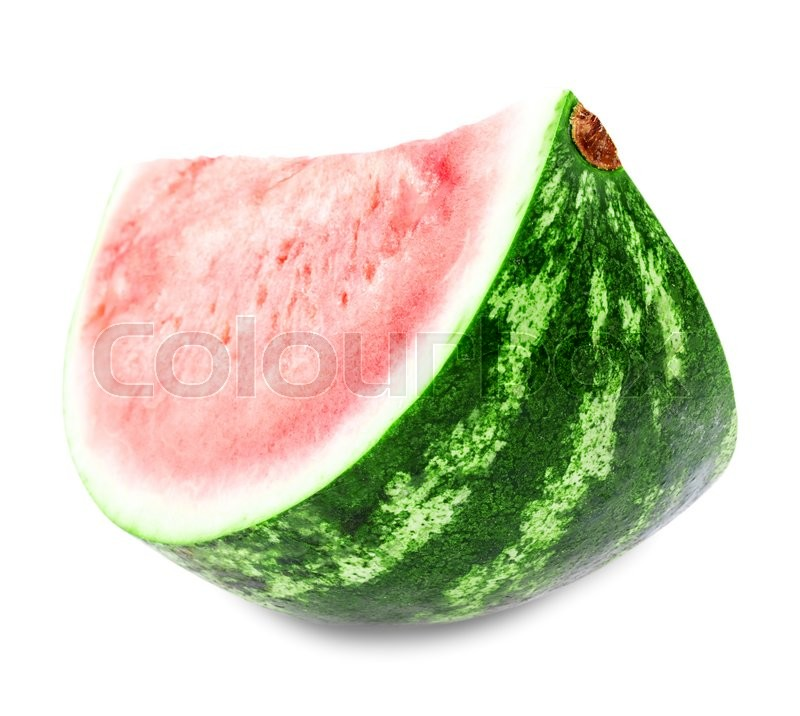 Stock image of 'watermelon Isolated on white background Clipping Path'