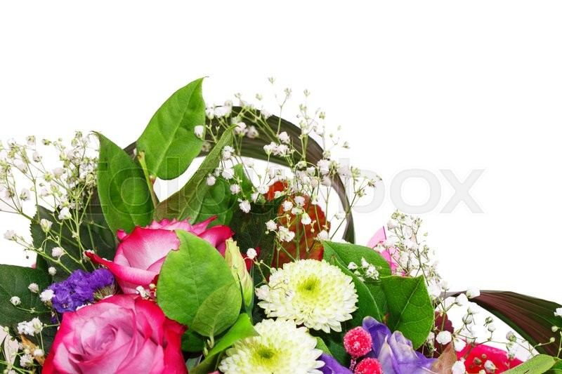 Stock image of 'bouquet of flowers Isolated on white background'