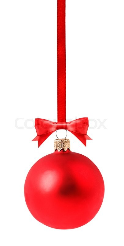 Stock image of 'red Christmas ball Isolated on white background Clipping Path'