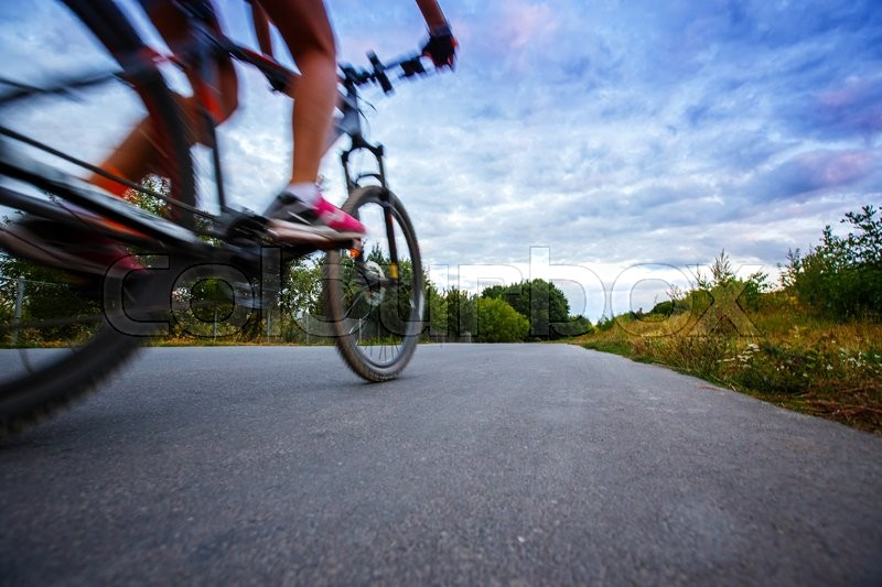 Stock image of 'road Bike movement Sport is not an ordinary perspective'