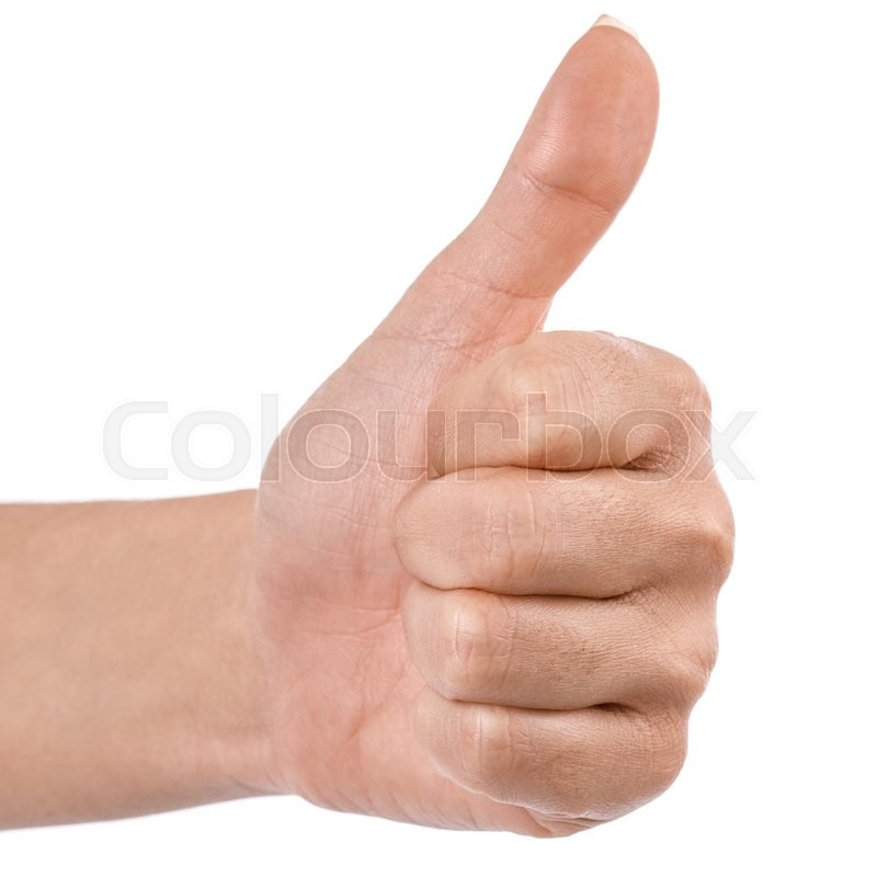 Stock image of 'hand thumbs up Clipping Path Isolated on white background'