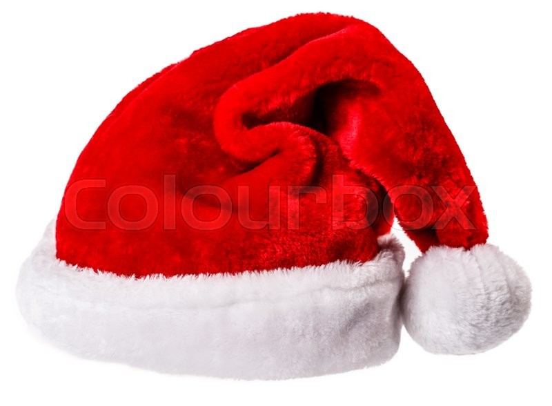 Stock image of 'Santa Claus hat Isolated on white background Clipping Path'