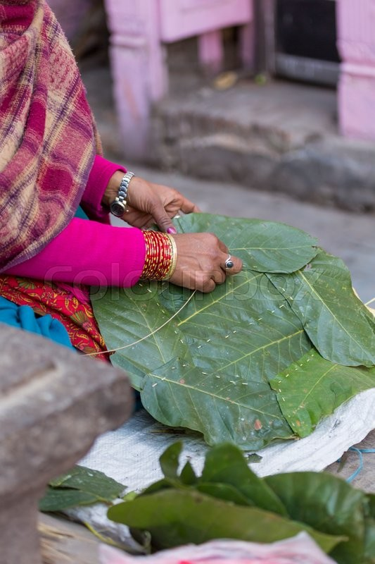 Stock image of 'Woman Nepal selling fruit and vegetable at Market in Kathmandu, Nepal  '