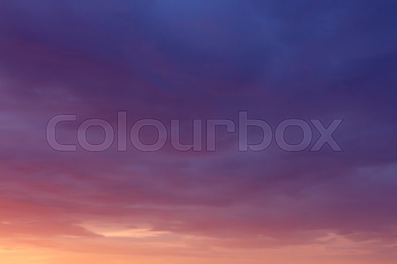 Stock image of 'View on picturesque cloudy sunset sky'