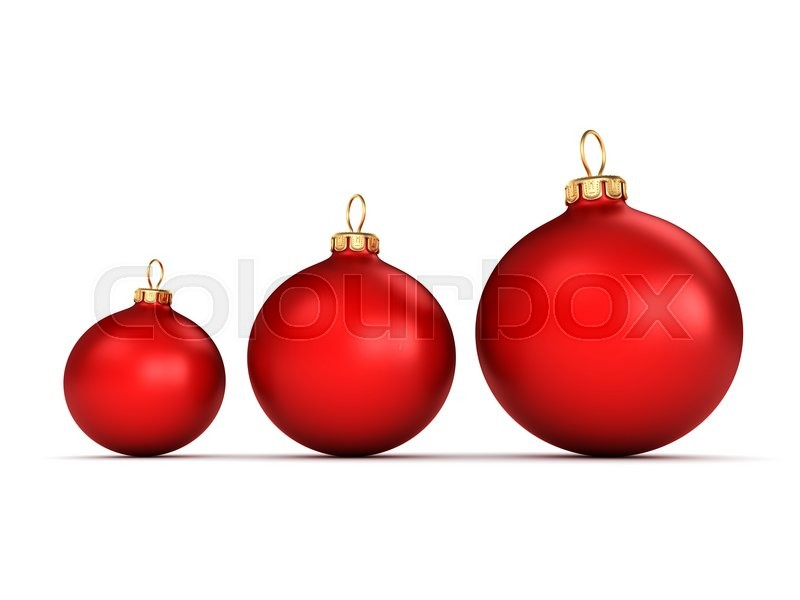 Stock image of 'Red Christmas ball on a white background'
