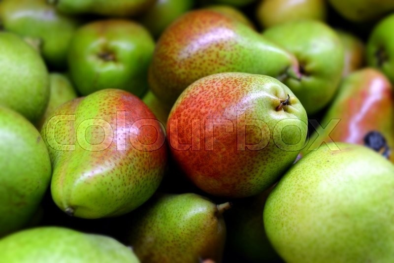 Stock image of 'fresh pear in supermarket for sale'