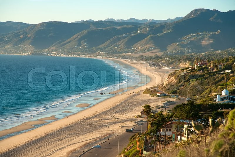 Stock image of 'Beautiful view on Point Dume Beach Malibu California'