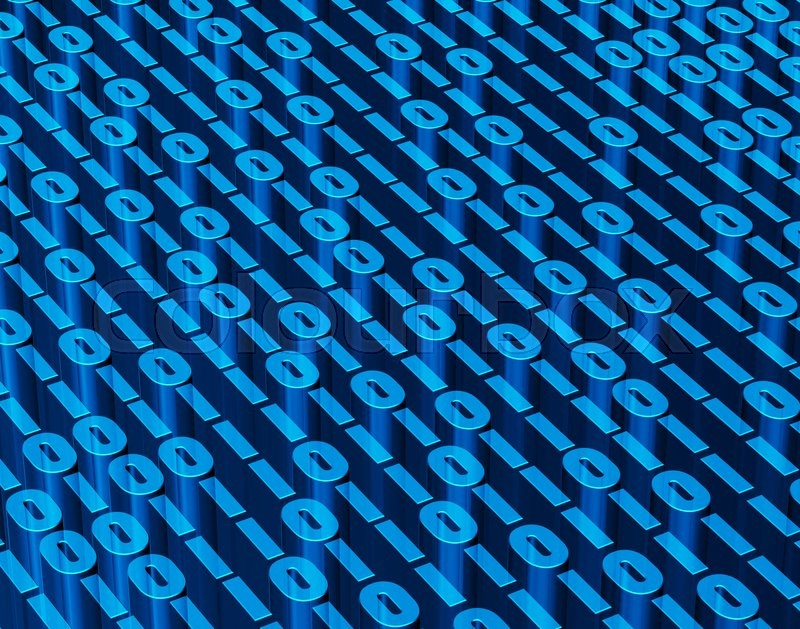 Stock image of 'Binary digital code abstract background, technology and digital concept.'