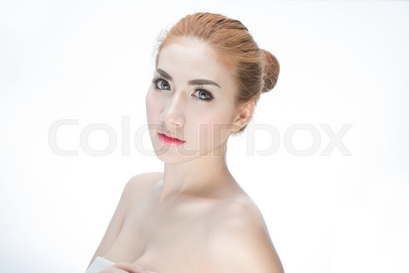 Stock image of 'Beauty Girl. Portrait of Beautiful Young Woman looking at Camera.'