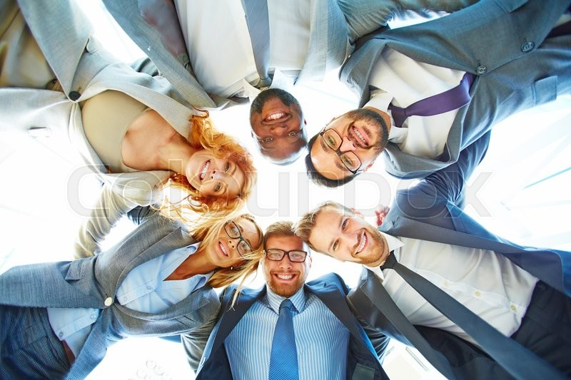 Stock image of 'Portrait of successful business group'