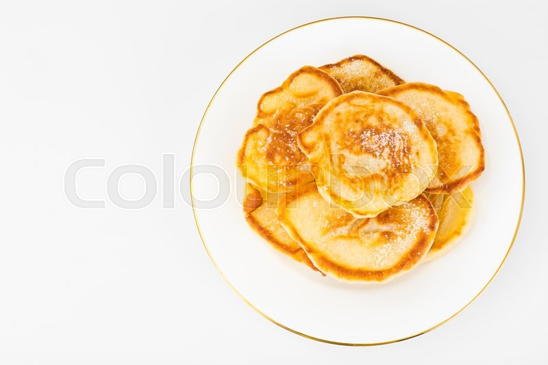 Stock image of 'Tasty Pancakes with Sugar Stack Studio Photo '