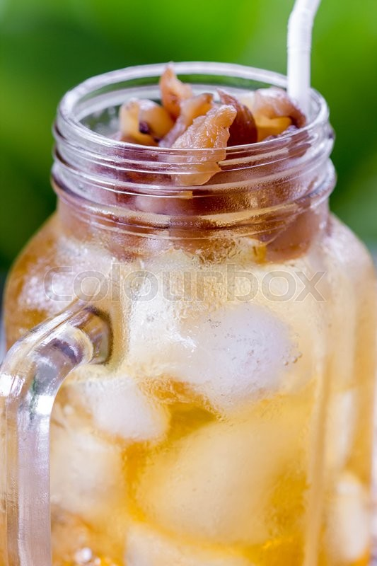 Stock image of 'pitcher of tasty fresh juice'