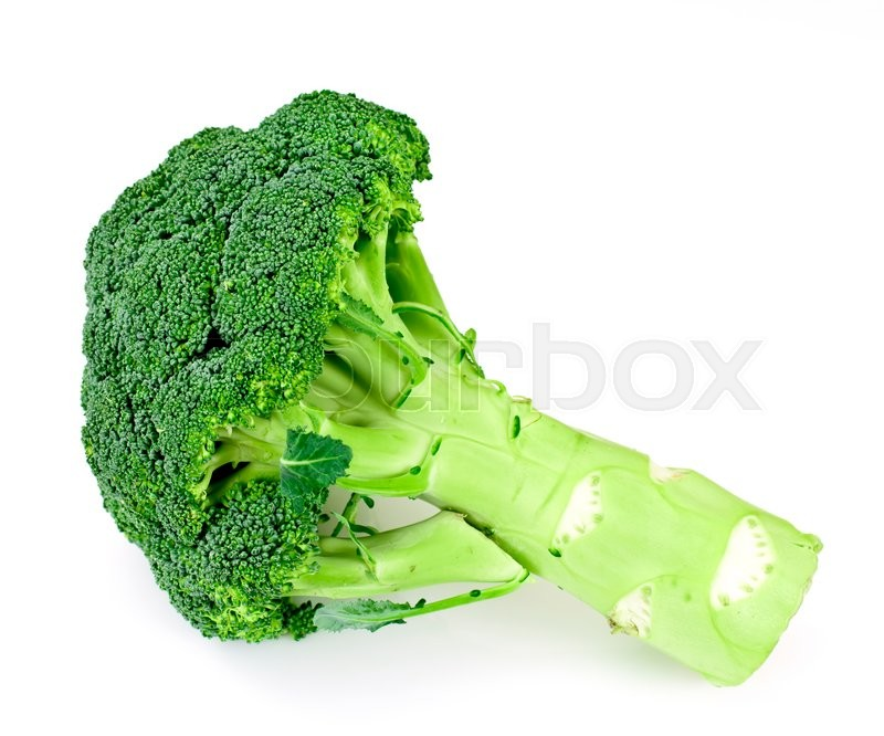 Stock image of 'Fresh Juicy Green Broccoli Isolated on White Background'