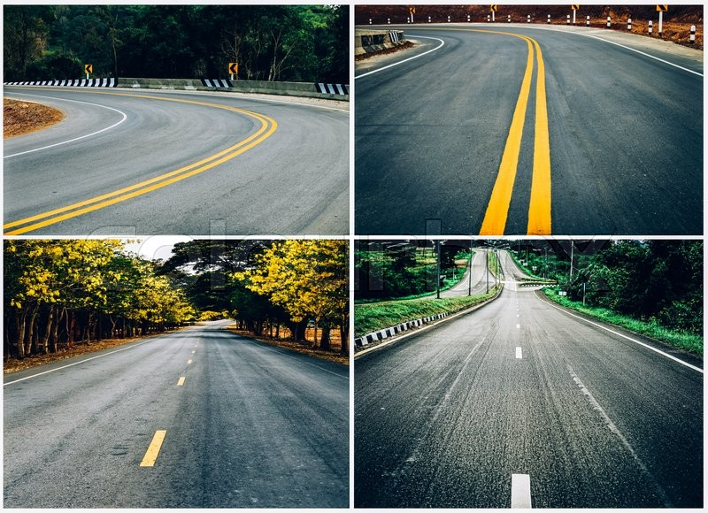 Stock image of 'collage of thailand road'