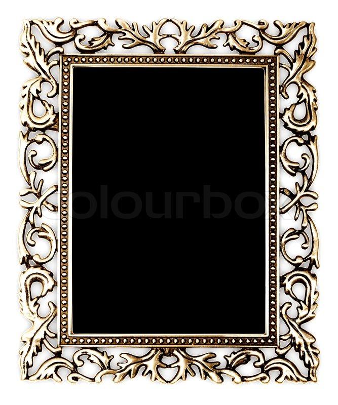 Goldenen Rahmen auf weißem Hintergrund | Stockfoto | Colourbox
