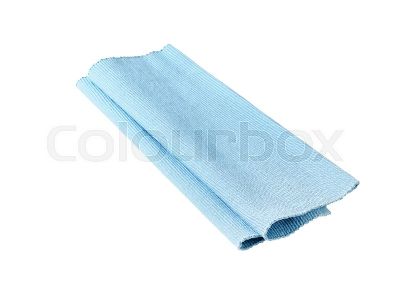 Stock image of 'Blue cloth place mat isolated on white'
