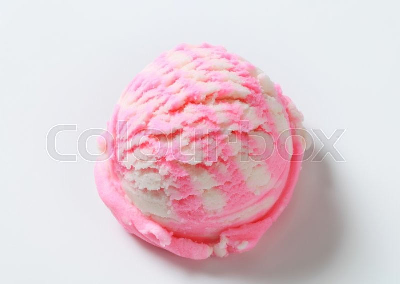Stock image of 'Scoop of frozen fruit yogurt ice cream'