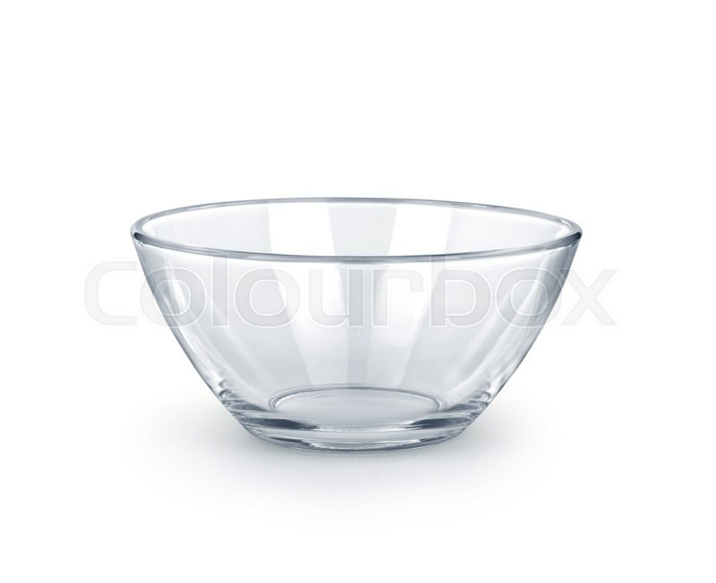Stock image of 'Empty bowl glass isolated on the white background.'