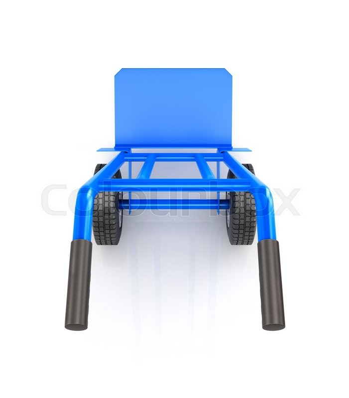 Stock image of 'Hand truck top view isolated on a white background'