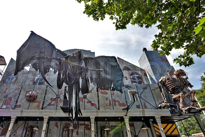 Exhibition Stall Wiki : Brussels belgium july  haunted house in the