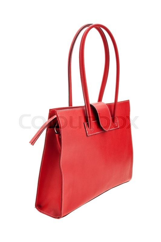 Stock image of 'New red womens bag isolated on white background.'