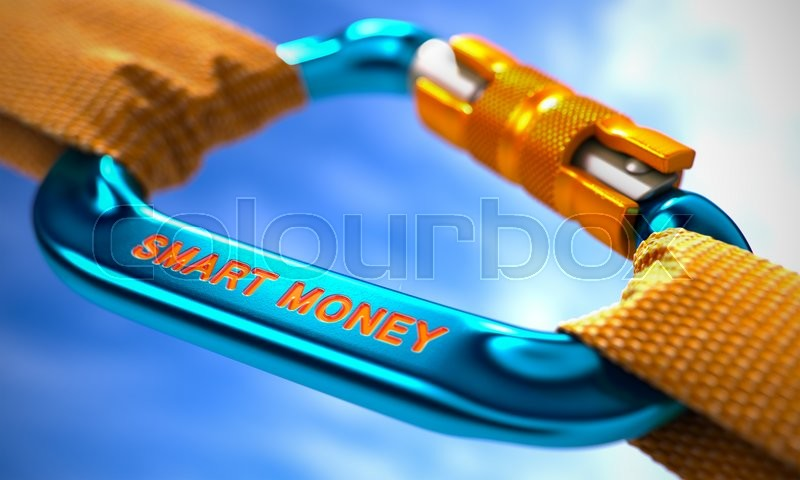 Stock image of 'Smart Money on Blue Carabine with a Orange Ropes. Selective Focus.'